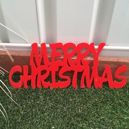 Merry Christmas Acrylic Sign