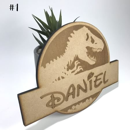 Jurassic Personalised Name Plate