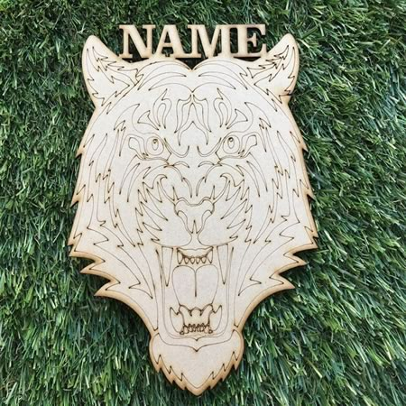 Personalised Tiger with Name Plaque