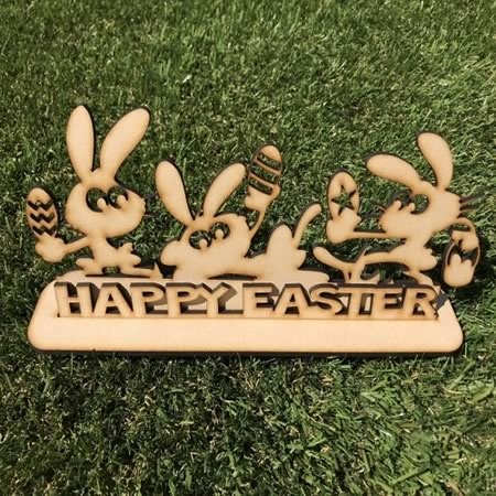 Happy Easter Sign with Stand