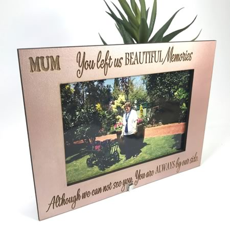 You left us Beautiful Memories Photo Frame