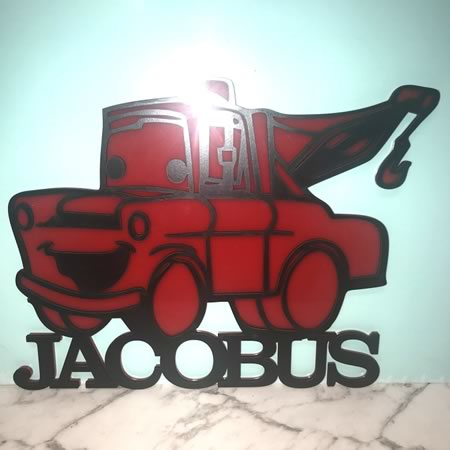 Customised Cars Bedroom Sign