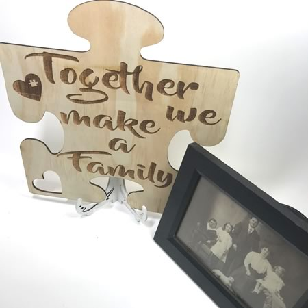 Together we make a Family Puzzle Piece