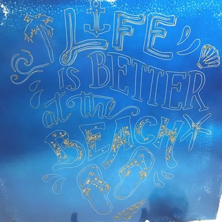 Life is Better at the Beach Tile