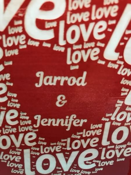 Heart with Names Tile