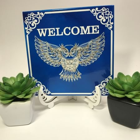 Welcome Owl Tile