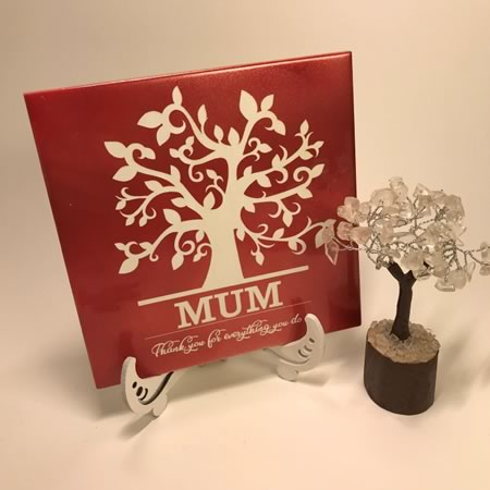 Monogram Tree Mum Tile