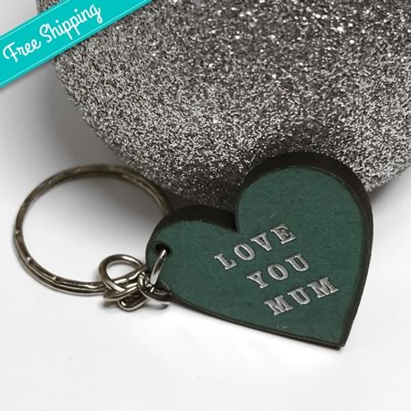 Love You Mum/Nan Heart Key Ring