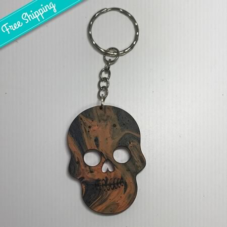 Skull Acrylic Key Ring