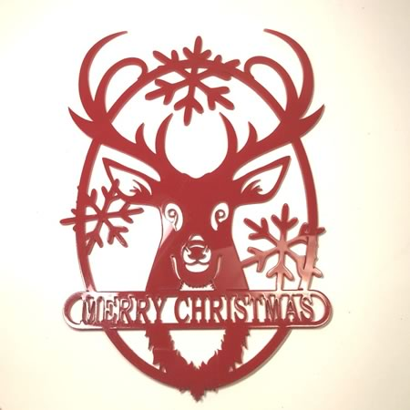 Reindeer Merry Christmas Sign