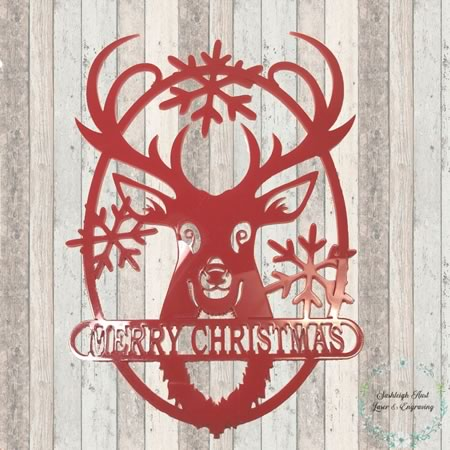 Door Hanger - Reindeer Sign