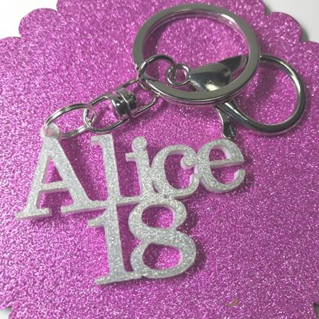 Key Ring with Age and Name