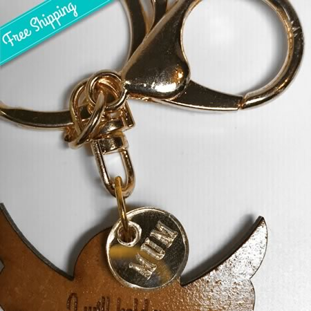 Angel Key Ring - I will hold you in my Heart