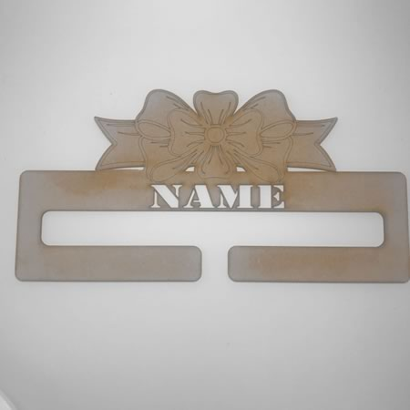 Bow Hanger with Name