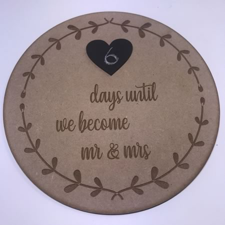 Wedding Countdown Disc