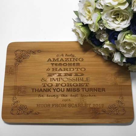 Teacher Gift Chopping Board