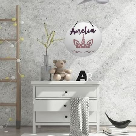 Unicorn Bedroom Sign with Personalised Name