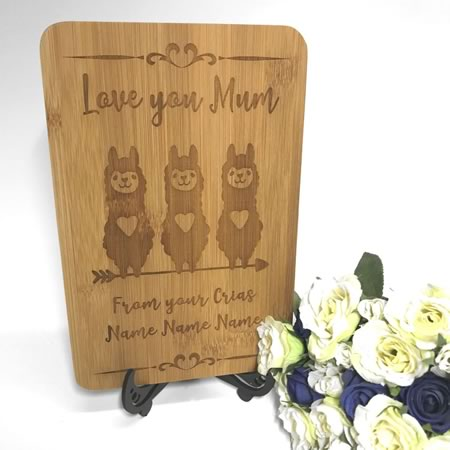 Mini Chopping Board - Love You Mum Gift