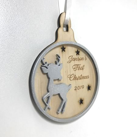 First Christmas Tree Deer Ornament