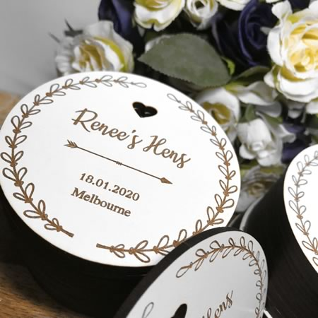 Personalised Hens Invitation Discs