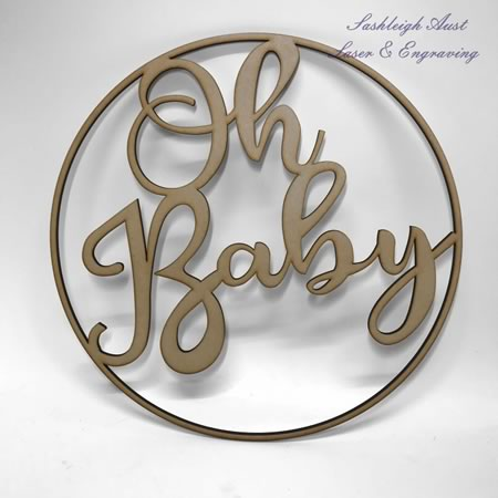 Oh Baby Circle Decoration