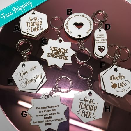 Teacher Gift Key Rings