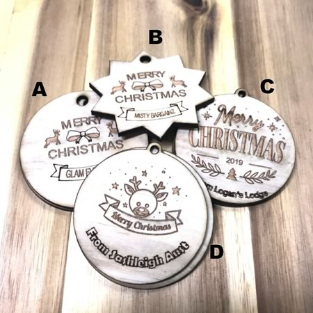 Business Christmas Tags/Key Rings