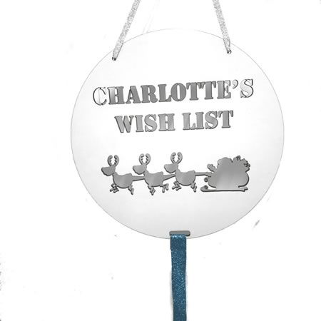 Personalised Christmas Wish List