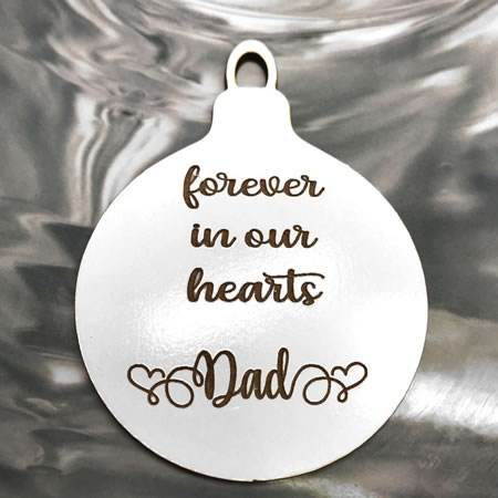 Forever in our Hearts Bauble