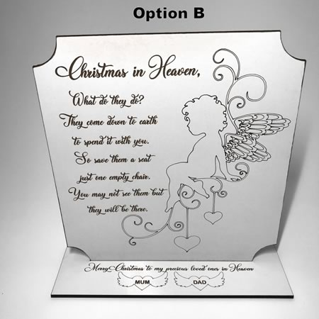 Christmas in Heaven Plaque