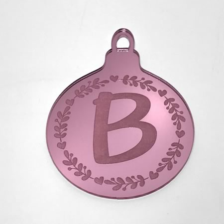 Christmas Ornament with Initial
