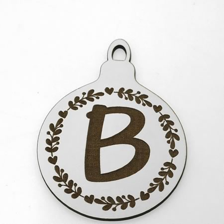 Christmas Initial Bauble