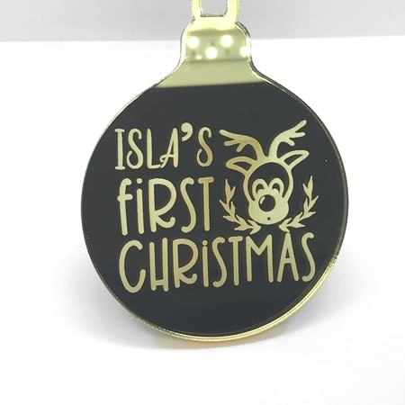 First Babys Christmas Ornament
