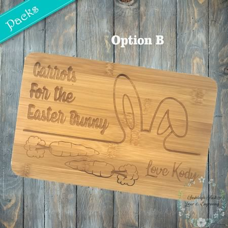 Chopping Board - Mini Easter Bunny Boards - Pack of 5