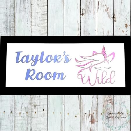 Personlised Unicorn Sign