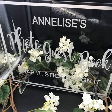 Photo Guest Book Plaque