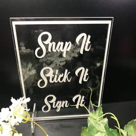 Snap It Stick It Sign It Plaque