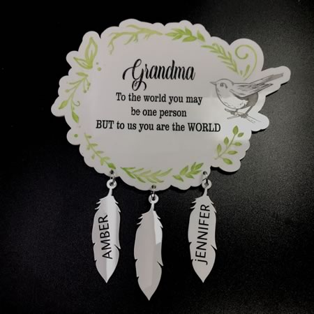 Grandma Plaque with Personalisation