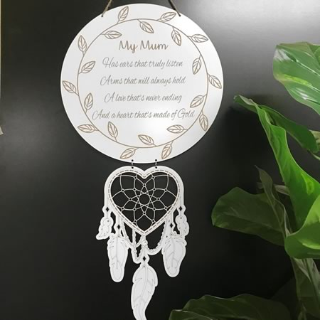 Mum/Grandparents Dream Catcher Wooden Gift