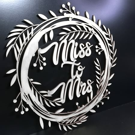 Miss to Mrs Party Sign