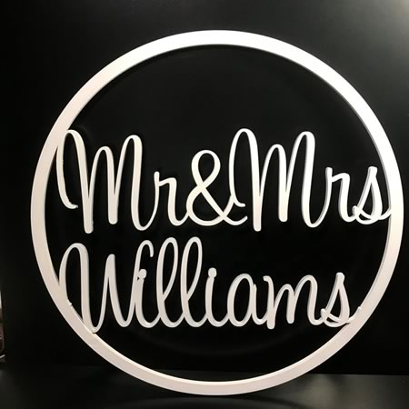Mr and Mrs Wedding/Engagement Hoop