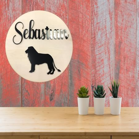 Kids Bedroom Name Sign with Lion
