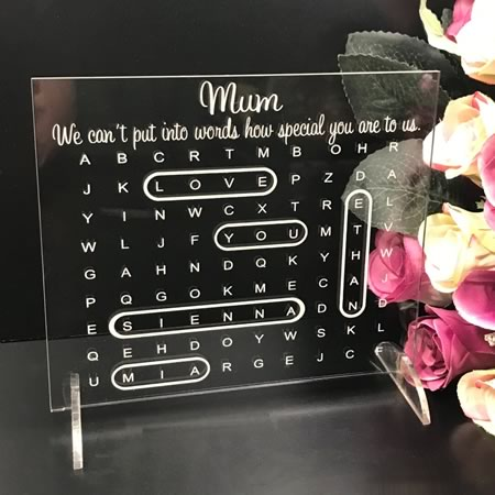Personalised Word Search Plaque