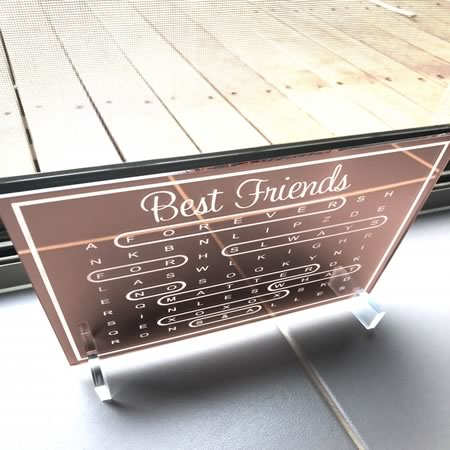 Word Search Best Friends Plaque