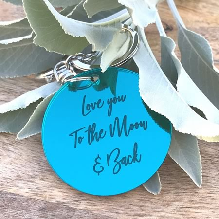 Love you to the Moon and Back Key Ring
