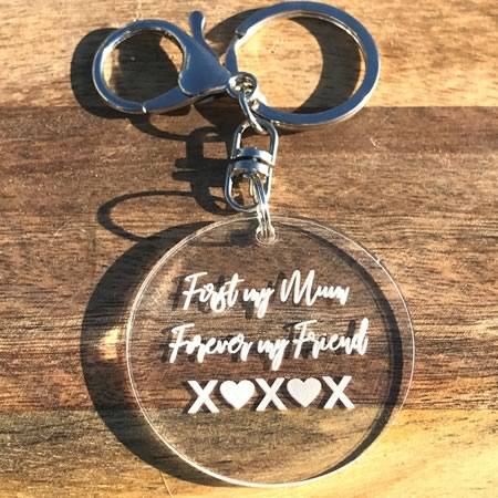 First My Mum Forever My Friend Key Ring