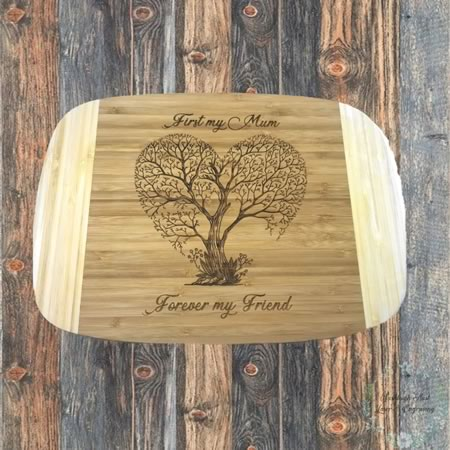 First My Mother Forever My Friend Chopping Board
