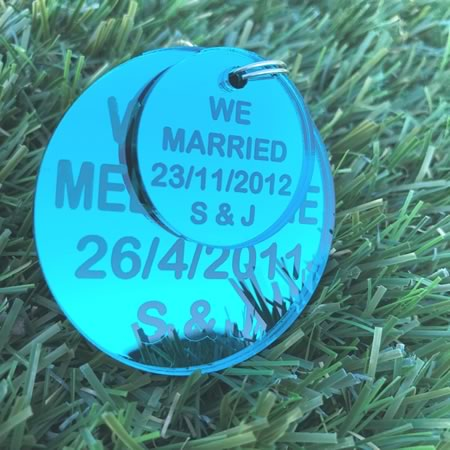 We Met - We Married Key Ring