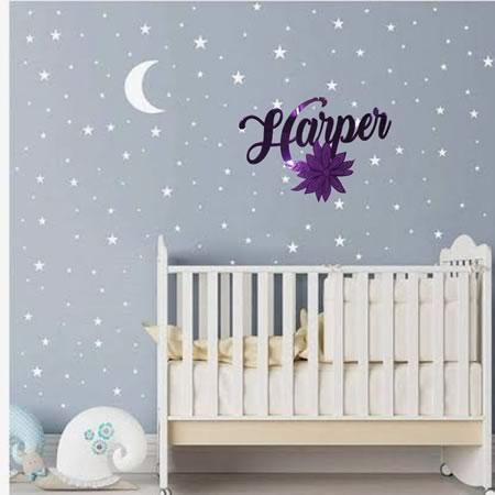 Kids Decor Personalised Name with Flower