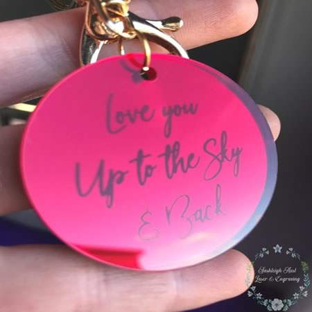 Love You to the Sky and Back Key Ring